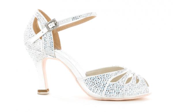 Zapato de baile Danc'in de Edición Limitada de Satén Blanco con Tacón de 7,5cm