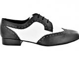 Zapato de baile Danc'in para Hombre en Blanco y Negro con Tacón de 2,5cm