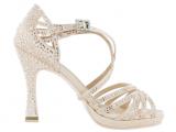 Zapato de baile «VERONICA ARRAIS» de Edición Limitada con plataforma de Satén Rosa con Tacón 10cm