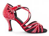 Zapato de baile Danc'in de Satén Rojo con Tacón 7,5cm
