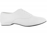Zapato de baile Danc'in Oxford Jazz en Piel Blanca con Tacón de 1cm