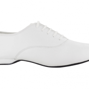Zapato de baile Danc'in Oxford Jazz en Piel Blanca con Tacón de 1cm