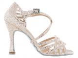 Zapato de baile Danc'in «VERONICA ARRAIS» de Edición Limitada en Satén Rosa Pastel con Tacón 10cm