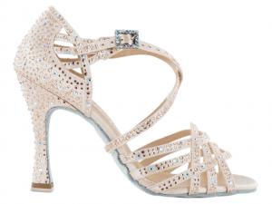 """Zapato de baile Danc'in """"VERONICA ARRAIS"""" de Edición Limitada en Satén Rosa Pastel con Tacón 10cm"""