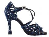 Zapato de baile Danc'in «VIRGINIA FILOGOMIO» de Edición Limitada en Satén Negro con Tacón 10cm