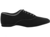 Zapato de baile Danc'in Hombre Oxford Jazz en Terciopelo Negro con Tacón de 1cm