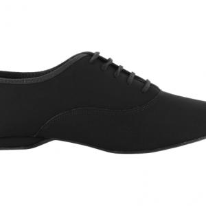 Zapato de baile Danc'in Oxford Jazz en Nobuk negro con Tacón de 1cm