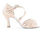 Zapato de baile Danc'in de Satén Rosa Pálido con Tacon de 7,5cm – 9083