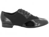 Zapato de baile Danc'in para Hombre en Charol y Nobuck Negro con Tacón de 2,5cm