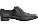Zapato de baile Derby Danc'in para Hombre con Decoraciones, color Negro con Tacón de 2,5cm