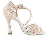 Zapato de baile Danc'in en Satén Rosa Pálido con Tacón 10cm