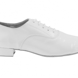 Zapato de baile modelo Oxford en Charol Blanco con Tacón de 2,5cm