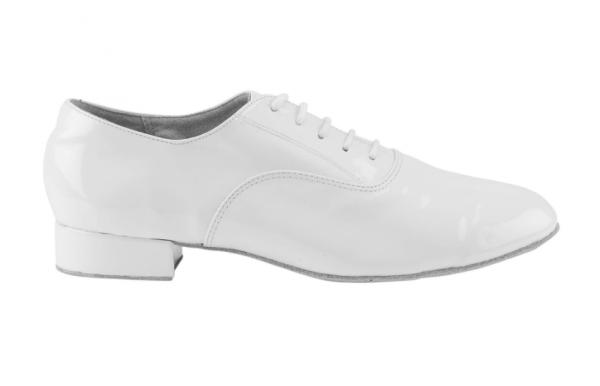 Zapato de baile modelo Oxford en Charol Blanco con Tacón de 2,5cm