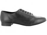 Zapato de baile Modelo Oxford en Cuero Negro, suela DRS con Tacón de 2,5cm