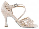 Zapato de baile Danc'in «VERONICA ARRAIS» de Edición Limitada en Satén Rosa Pastel con Tacón 8cm