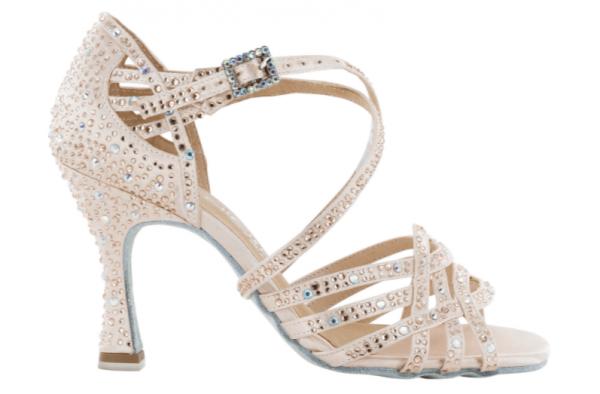 """Zapato de baile Danc'in """"VERONICA ARRAIS"""" de Edición Limitada en Satén Rosa Pastel con Tacón 8cm"""