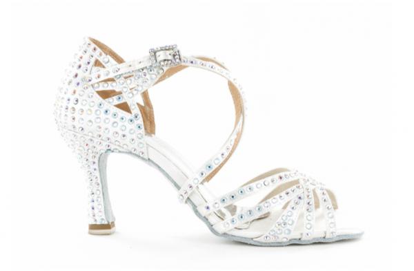 Zapato de baile Danc'in de Satén Blanco con Tacón 7,5cm