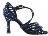 Zapato de baile Danc'in «VIRGINIA FILOGONIO» de Edición Limitada en Satén Negro con Tacón 7,5cm