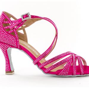"""Zapato de baile Danc'in """"TITINA PULLY"""" de Edición Limitada en Satén Fucsia con Tacón de 7,5cm"""