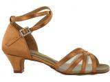 Zapato de baile Danc'in en Satén y Red con Tacón de 3,5cm