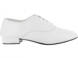 Zapato de baile Danc'in Hombre Oxford Jazz en Piel Blanco con tacón de 2,5cm