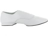 Zapato de baile Jazz Danc'in en Cuero Blanco con Suela Superflex DRS Vibram con Tacón de 1cm