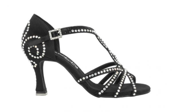 Zapato de baile Danc'in en Satén Negro con Tacón 7'5cm