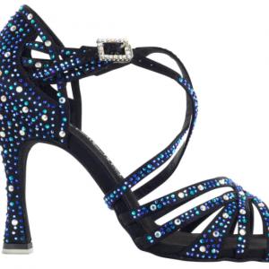 """Zapato de baile Danc'in """"Virginia galán"""" de Edición Limitada en Satén Negro con Tacón 10cm"""