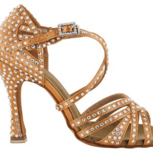 Zapato de baile Danc'in en Cuero Satinado con Tacón 10cm