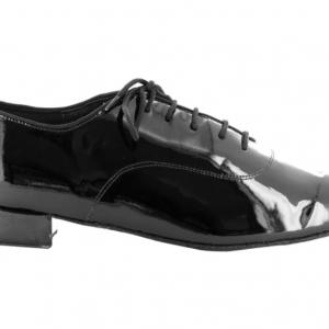 Zapato de baile Oxford en Charol Negro con Tacón 2,5cm