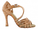 Zapato de baile Danc'in en Satén de Piel Oscura con Tacón 10cm – 9053