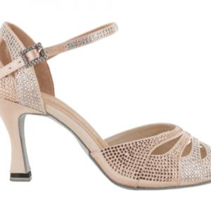 Zapato de baile Danc'in en Satén Rosa Pálido con Tacón de 5,5cm