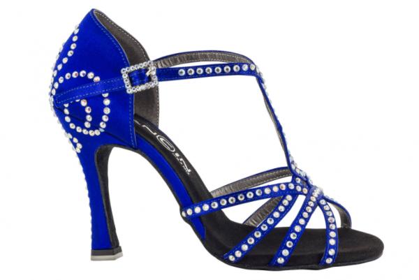 Zapato de baile Danc'in en Satén Azul con Tacón 10cm