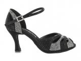 Zapato de baile Danc'in en Satén Negro con tacón 7,5cm