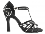 Zapato de baile Danc'in en Satén Negro con Tacón 10cm