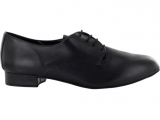 Zapato de baile Danc'in con Cordones en Cuero Negro Modelo Derby con Tacón 2,5cm