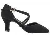 Zapato de baile Danc'in Cerrado en Nobuck Negro con Tacón de 5,5cm