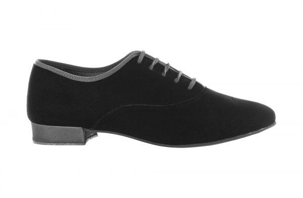 Zapato de baile Danc'in Hombre de Terciopelo liso Negro con Tacón de 2'5cm