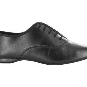 Zapato de baile Danc'in Hombre en Piel Negro con Tacón de 1cm