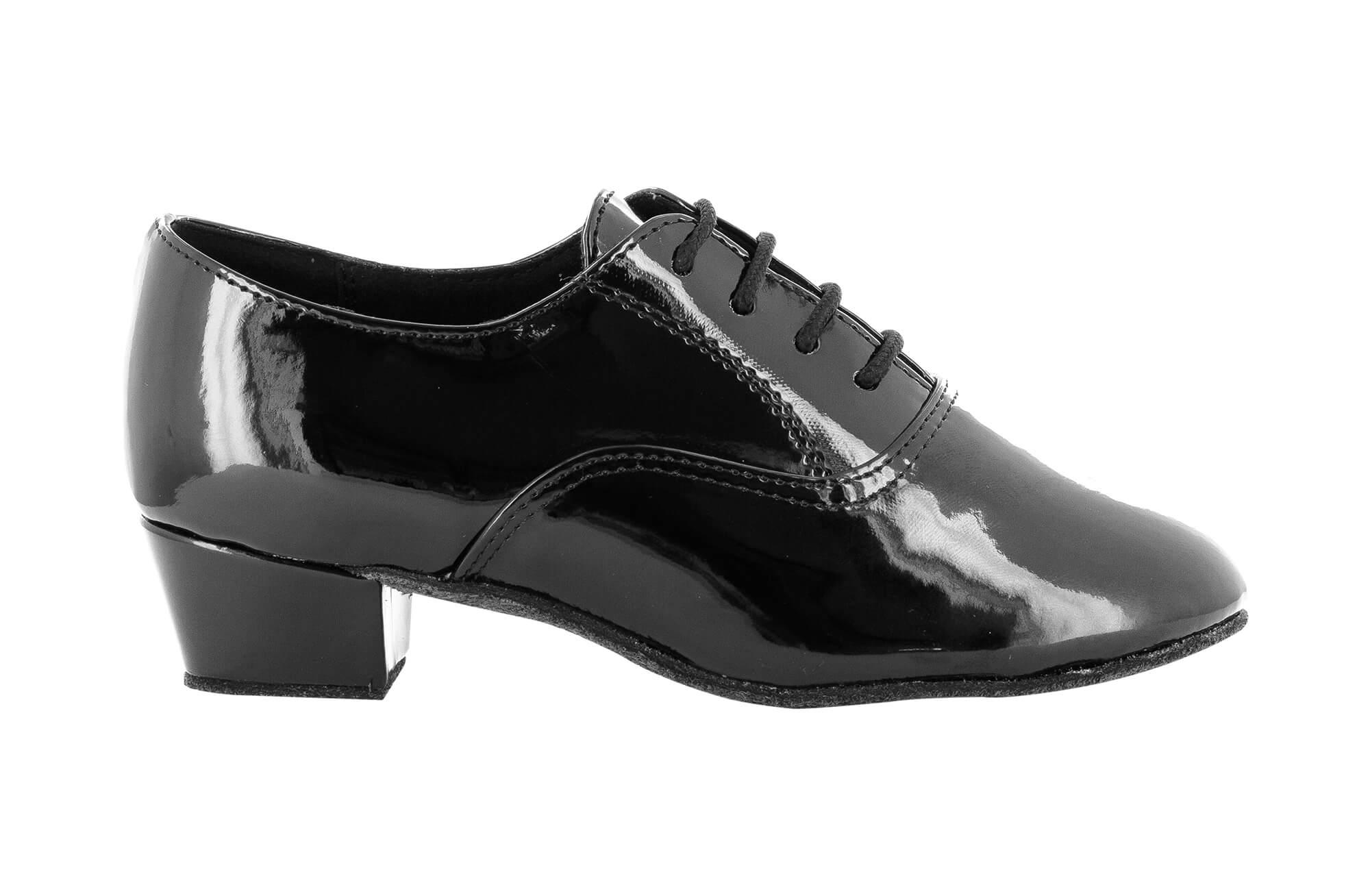 Zapato de baile Danc'in Niño de Charol Negro con Tacón de 3,5cm