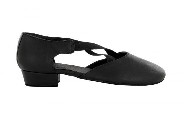 Zapato de baile Danc'in en Piel Negra de Tacón de 2'5cm