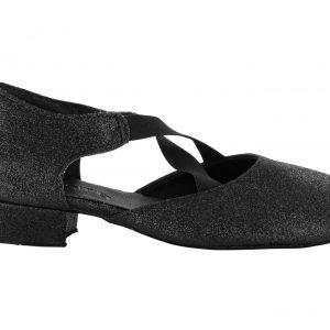 Zapatos de baile Danc'in en Tejido de Purpurina Negro con Tacón de 2'5cm