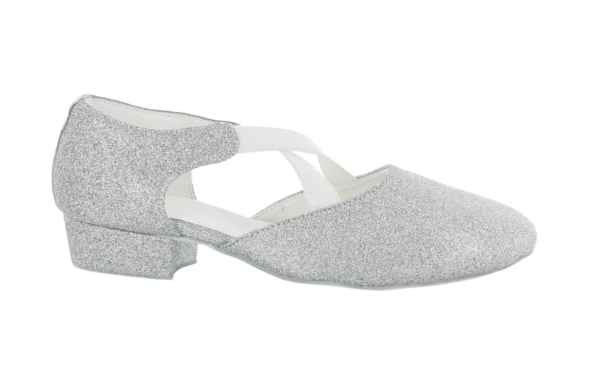 Zapato de baile Danc'in de Tejido Purpurina Plateado con Tacón de 2'5cm