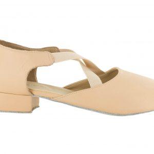 Zapato de baile Danc'in de Piel Rosa con Tacón de 2'5cm