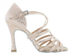 Zapato de baile Danc'in en Rosa Pálido con Tacón de 10cm