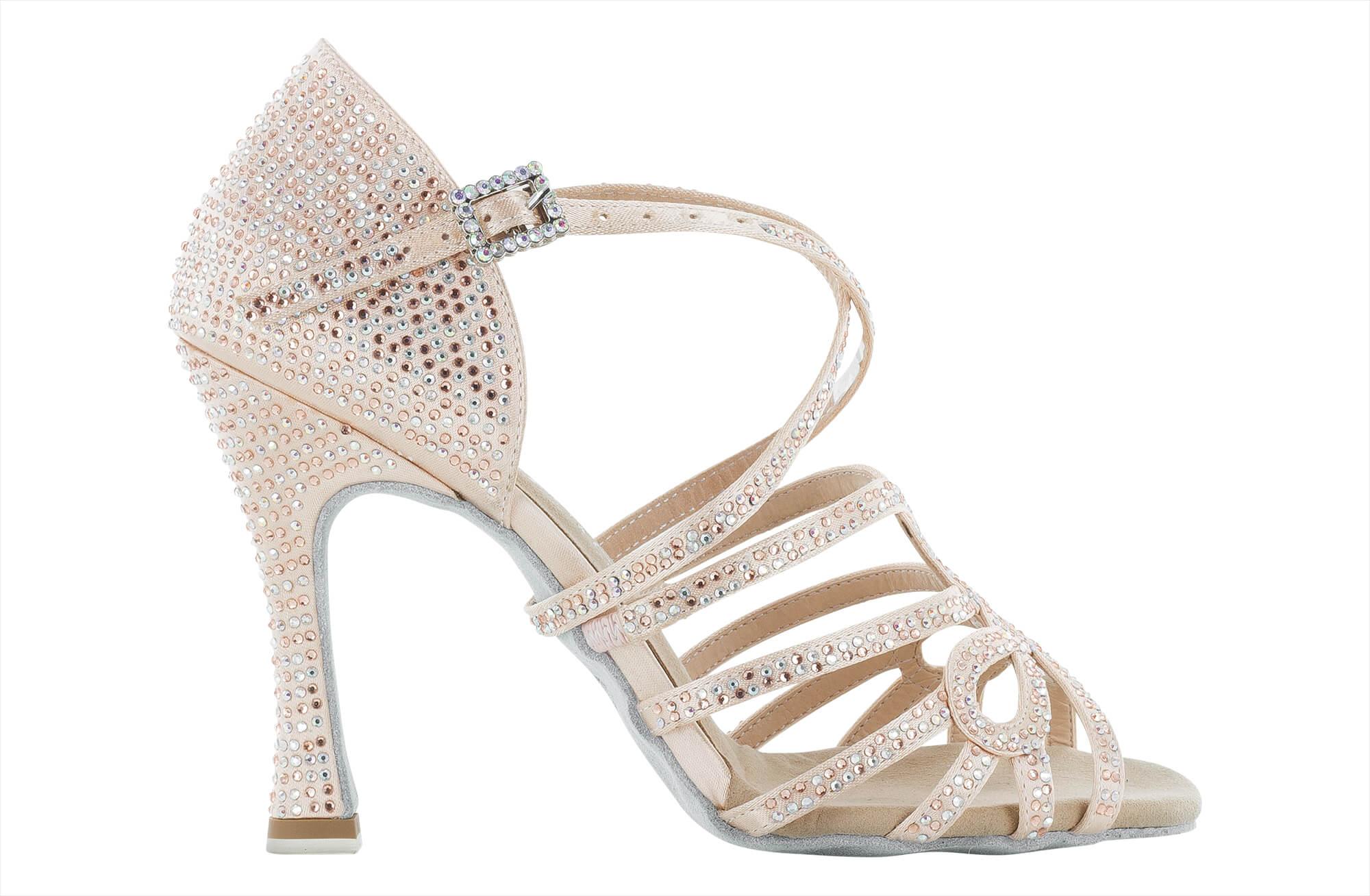 Zapato de baile Danc'in en Rosa Pálido con Tacón de 10cm 8790