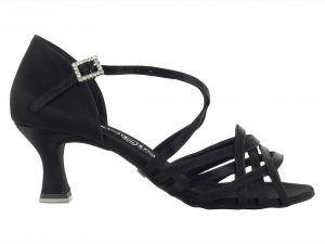 Zapato de baile Danc'in Negro con tiras cruzadas de Tacón 5'5cm