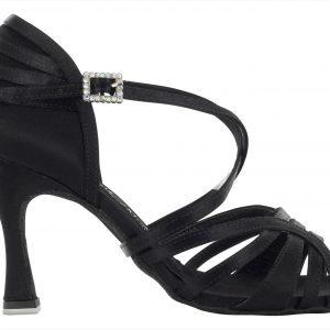 Zapato de baile Danc'in en Raso Negro con Tacón de 8cm