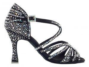 Zapato de baile Danc'in de Edición Limitada en Raso Negro de Tacón 8cm