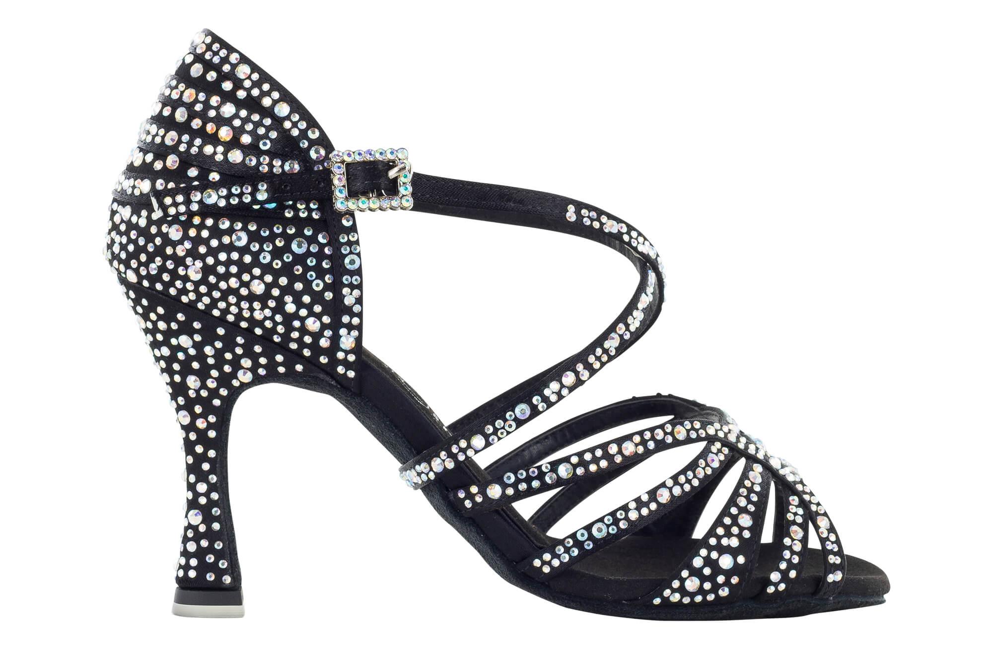 Zapato de baile Danc'in en Raso Negro de Tacón 8cm